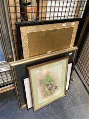 Sale 8895 - Lot 2064 - Various artists, collection of 4 various artworks including pencil drawing, watercolour and an original work on paper 60 x 40cm (larg
