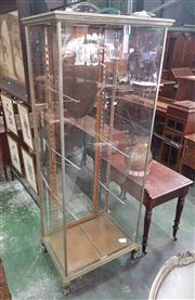 Sale 8917 - Lot 1075 - Art Deco Tall Chromed Glass Shop Display Cabinet, by Catliff & Marshall, with later fitted down-lights (no glass shelves)