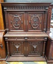 Sale 8917 - Lot 1038 - Late 19th Century French Renaissance Style Walnut Sideboard, with gallery top above two doors carved with fish panels, two drawers &...