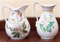 Sale 8934H - Lot 70 - A Portmeirion jug in the Botanic garden design together with another similar example.