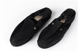 Sale 9250F - Lot 63 - A pair of Hermes Paris espadrilles in black, size 37.
