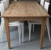 Sale 8575H - Lot 85 - A rectangular 6 seater cheeseboard table Ex Original Finish, 07/2002 $4000