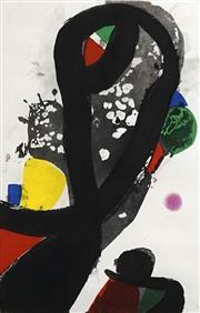 Sale 8704 - Lot 577 - Joan Miro (1893 - 1983) - La Veuve du Corsaire, 1981 69 x 43cm