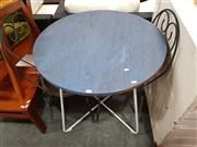 Sale 8680 - Lot 1080 - Round Table & Pair of Chairs