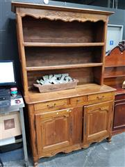 Sale 8697 - Lot 1012 - French Cherrywood Buffet and Hutch