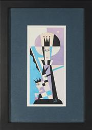 Sale 8836 - Lot 2030 - Eduard Nikonorov (1951 - ) - Untitled (Queen and Jester), 2004 20 x 8cm