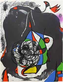 Sale 9108A - Lot 5017 - Joan Miro (1893 - 1983) - End of Illusion II 37 x 26 cm