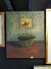 Sale 8609 - Lot 2062 - Artist Unknown - Happiness & Luckiness, oil, 60x50cm