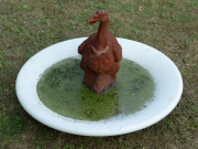 Sale 8795A - Lot 12 - A small pond, 90cm in diameter (geese not included)