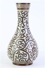 Sale 8815C - Lot 47 - Brown Glazed Bottle Vase H:27cm