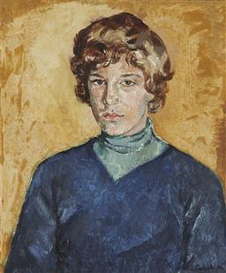 Sale 9195 - Lot 516 - JUDY CASSAB (1920 - 2015) - Portrait, 1976 (Blue) 60 x 50 cm (frame: 76 x 66 x 4 cm)