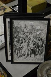 Sale 8453 - Lot 2082 - Norman Lindsay Prints (4 works) - Various Scenes 29 x 20cm, each