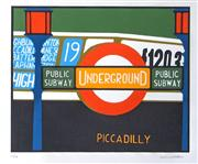 Sale 8485A - Lot 5020 - Mario Padovan (1927 - ) - Piccadilly 70 x 50cm