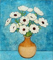 Sale 8510 - Lot 563 - Geoff Jones (1909 - 1993) - Daises, 1992 46.5 x 40cm