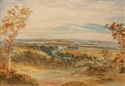 Sale 8656 - Lot 579 - Samuel Elyard (1817 - 1910) - Shoalhaven Landscape (30/11/1906) 49 x 70cm