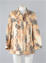 Sale 8685F - Lot 79 - A Basler printed cotton-blend jacket, size GB 18