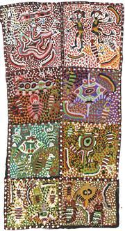 Sale 8718 - Lot 545 - Willie Gudupi & Moima Willie (1916 - 1996) (1935 - deceased) - Untitled, 2001 acrylic on canvas