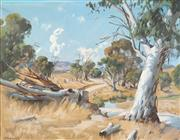 Sale 8821 - Lot 553 - Ernest Buckmaster (1897 - 1968) - (Untitled) Bush Scene 70 x 90cm