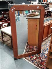 Sale 8834 - Lot 1025 - Timber Framed Mirror with Metal Mounts