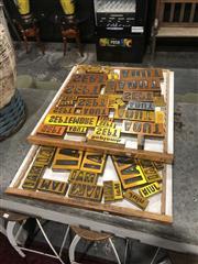 Sale 8912 - Lot 1019A - Tray of Vintage Printers Blocks x2