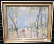 Sale 9019 - Lot 2003 - R.V Judd Burragorang Valley, oil on canvas on board, frame: 34 x 40 cm, signed lower right