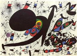 Sale 9108A - Lot 5009 - Joan Miro (1893 - 1983) - Homage to Joan Prats 47 x 61 cm (sheet)