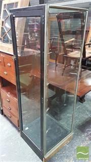 Sale 8375 - Lot 1074 - Vintage Oak, Brass & Glass Shops Display Cabinet