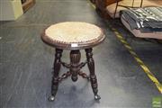 Sale 8390 - Lot 1308 - Victorian Piano Stool