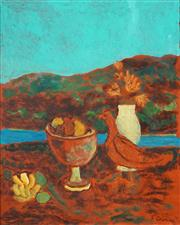Sale 8526 - Lot 552 - Ray Crooke (1922 - 2015) - Island Still Life 49.5 x 39.5cm