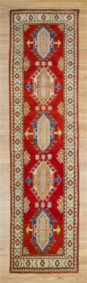 Sale 8576C - Lot 41 - Afghan Kazak 307cm x 81cm