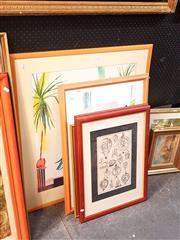 Sale 8682 - Lot 2055 - Group of (6) Assorted Framed Decorative Prints, including antique engravings