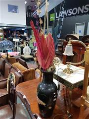 Sale 8700 - Lot 1062 - Black Vase with Contents