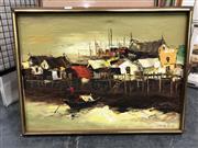 Sale 8797 - Lot 2094 - TK Chan - Oriental Port Scene, oil on canvas, SLR