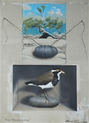 Sale 8938 - Lot 585 - Graeme Townsend (1954 - ) - Plover Hide, Stone Sand 1966 76 x 55.5 cm