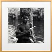 Sale 8309A - Lot 57 - Rex Dupain (1954 - ) - Boy with Gun 49 x 48cm