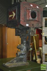 Sale 8326 - Lot 1077 - Vintage Railway Signal Box