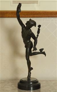 Sale 8392H - Lot 30 - A bronzed sculpture of Mercury after Giambologna, H 62cm
