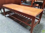 Sale 8451 - Lot 1085 - Remploy extending teak coffee table