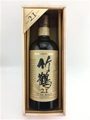 Sale 8439 - Lot 727 - 1x Nikka Whisky 21YO Taketsuru Distillery Pure Malt Japanese Whisky - in box