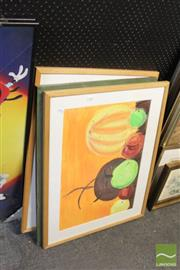 Sale 8468 - Lot 2042 - Group of (3) Original Still Life Artworks by Unknown Artists various sizes, each framed