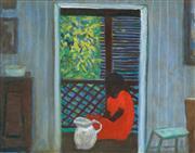 Sale 8510 - Lot 554 - Ray Crooke (1922 - 2015) - Interior 37 x 47cm