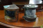 Sale 8542 - Lot 1021 - Pair of Reproduction Ships Lamps