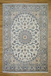 Sale 8576C - Lot 42 - Persian Nain Silk & Wool 310cm x 212cm