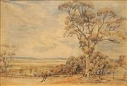 Sale 8656 - Lot 580 - Attributed to Samuel Elyard (1817 - 1910) - Botany Bay, c1860 22 x 32.5cm