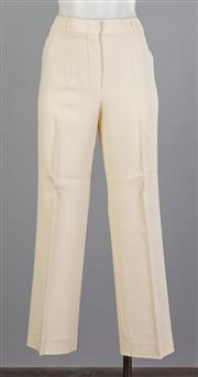 Sale 8661F - Lot 36 - A pair of Sportmax viscose blend cream pants, size gb 12