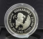 Sale 8731 - Lot 302 - THE AUSTRALIAN KOOKABURRA 1992 PROOF SILVER 2 OUNCE COIN; in case of issue.