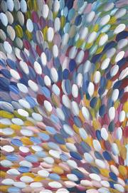 Sale 8722 - Lot 551 - Gloria Petyarre (c1945 - ) - Bush Medicine Leaves 142 x 95cm