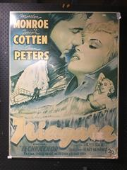 Sale 8726 - Lot 2063 - Vintage Marilyn Monroe Niagara Movie Poster On Board -