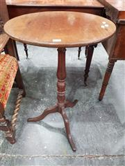 Sale 8728 - Lot 1023 - 19th Century Mahogany Small Occasional Table, with round top, turned pedestal & outswept feet