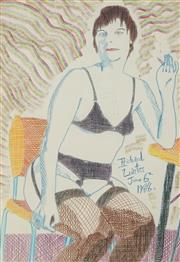 Sale 8822A - Lot 5008 - Richard Larter (1929 - 2014) - Pat, June 6 1988 52 x 36.5cm